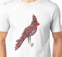 Steampunk Dada Cardinal (Red Cadillac Cardinal Bird Surrealist Collage) Unisex T-Shirt