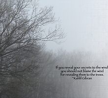 Trees and Fog and Khalil Gibran Quote by MotherNature
