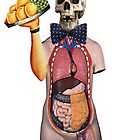 Dada Skull Waiter (Surrealist Collage) by Welte Arts &amp; Trumpery