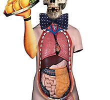 Dada Skull Waiter (Surrealist Collage) by Joseph Welte