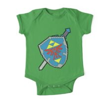 8-Bit Master Sword and Shield One Piece - Short Sleeve