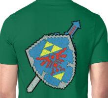 8-Bit Master Sword and Shield Unisex T-Shirt