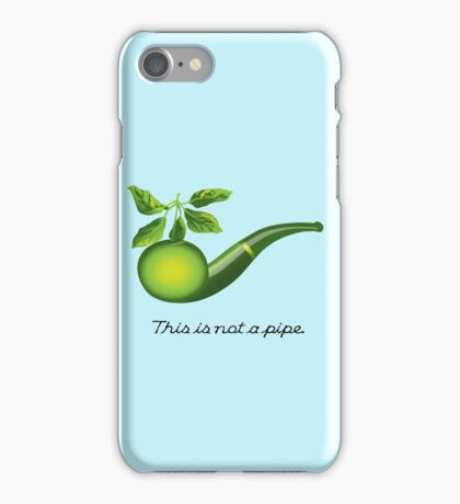 Magritte Parody iPhone Case/Skin
