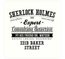 Sherlock Holmes Expert Art Print