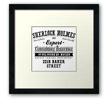 Sherlock Holmes Expert Framed Print
