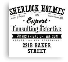 Sherlock Holmes Expert Canvas Print