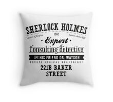 Sherlock Holmes Expert Throw Pillow