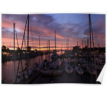 Harbor Sunrise Poster