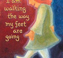 I am walking... by MaryWhimsie