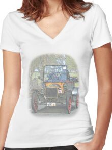 Ford Model T Women's Fitted V-Neck T-Shirt