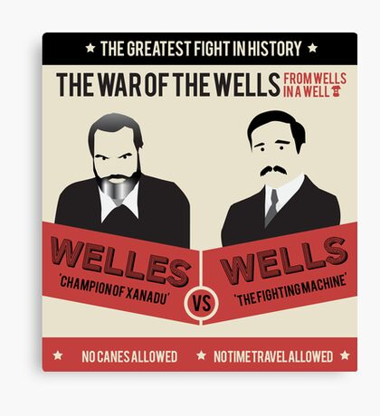 War of the wells Canvas Print