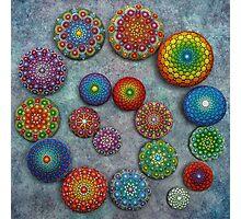 Mandala Stone Spiral Photographic Print