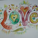 Love (word illustration) by Amanda Gazidis