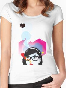(inlove) T-Shirt Women's Fitted Scoop T-Shirt