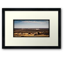 Cycling the outback Framed Print