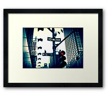 52nd Street - NYC Framed Print