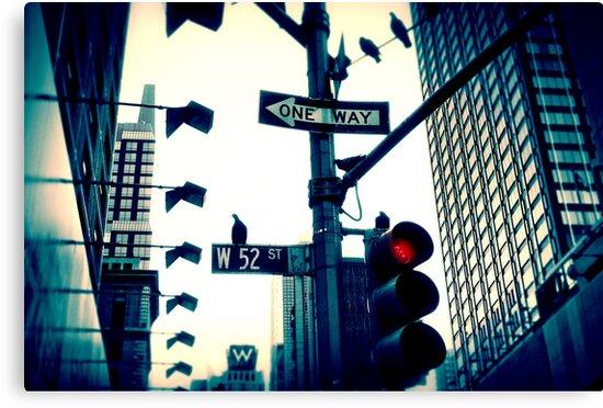 52nd Street - NYC by Laurent Hunziker