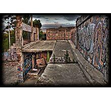 Hidden graffiti gem in Richmond Photographic Print
