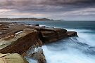 Rock Fishing Avoca 2 by Michael Howard