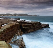 Rock Fishing Avoca 2 by Michael Howard