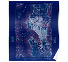 USGS Topo Map Washington State WA Seattle Special 243626 1909 62500 Inverted Poster