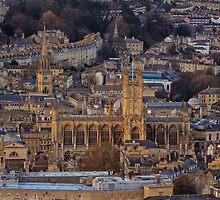 Bath Abbey From Above by Lauren Tucker
