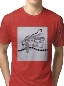 Lady With Interesting Hair Tri-blend T-Shirt