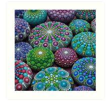 Mandala Stone Collection- Very Berry  Art Print
