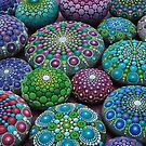 Mandala Stone Collection- Very Berry  by Elspeth McLean