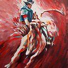 Bull riding by Dan Wilcox