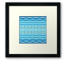 Beach Swimmer Framed Print