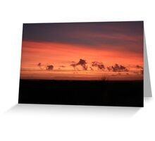 Red Sunset - Anglesey Greeting Card