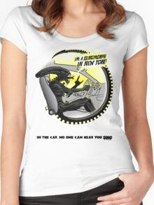 In the car no one can hear you sing. Women's Fitted Scoop T-Shirt