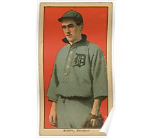 Benjamin K Edwards Collection Donie Bush Detroit Tigers baseball card portrait 001 Poster