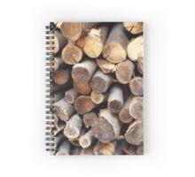 Tree Logs Spiral Notebook
