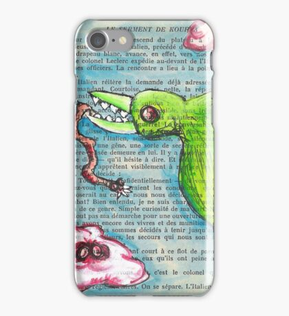 Bird with Zombie Worm iPhone Case/Skin
