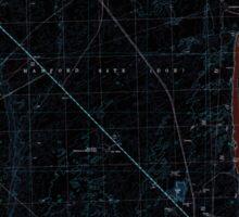 USGS Topo Map Washington State WA Wooden Island 244782 1992 24000 Inverted Sticker