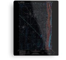USGS Topo Map Washington State WA Wooden Island 244782 1992 24000 Inverted Metal Print