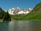 Maroon Lake view of the Bells by David  Hughes
