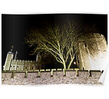 Tower Of London night view Poster