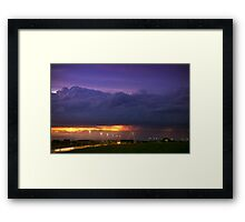 Sunset Strike Framed Print