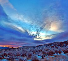 Desert Sunrise with snow by SB  Sullivan