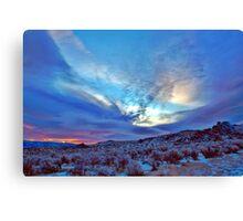 Desert Sunrise with snow Canvas Print