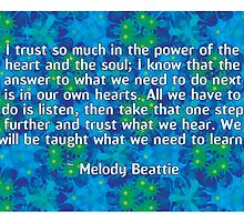 Melody Beattie Quote by Dooda Creations