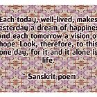 Sanskrit poem by Dooda Creations
