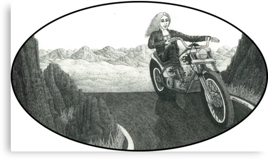 Motorcycle Mama II by Michael McKellip