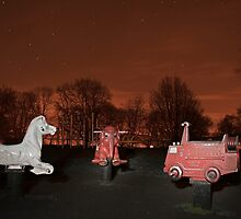 The Park at Night.. by Lauren Tucker