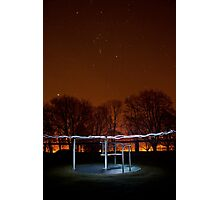 The Roundabout at Night... Photographic Print