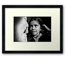 Girl portrait III Framed Print