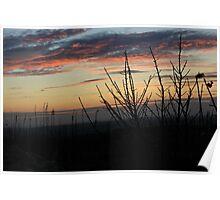 Beautiful Orange Sunset - Anglesey Poster